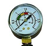 well2wellness® Pool Manometer / Wasser Druckmesser 1/8 Zoll