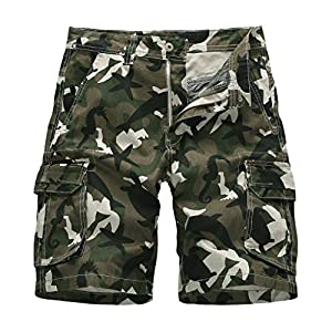 Herren Sommer im Freien lose Camouflage Printing Overalls Strand Shorts Hosen MEN'S outdoor camouflage printed washed…