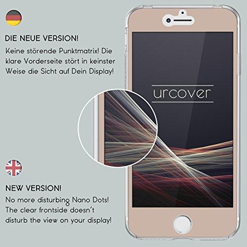 Urcover® Apple iPhone 7 Plus / 8 Plus Hülle | 360 Grad Case Schutz-hülle in Transparent | ohne Punktmatrix | Handy-Cover Rundum ultra slim Case dünn Schale | Smartphone Zuberhör Tasche Champagner Gold
