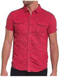 BLZ jeans - Chemisette rouge unie en lin