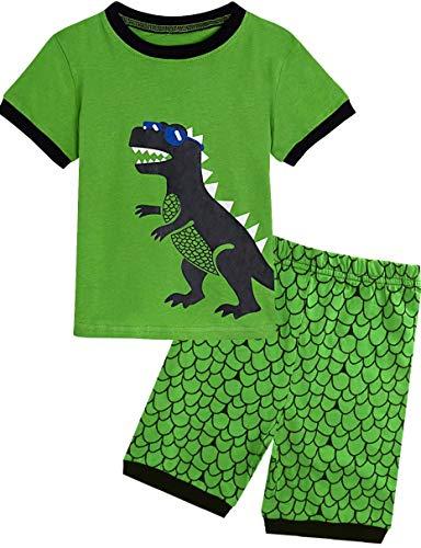 Dinosaurier-nachtwäsche (Mombebe Schlafanzug Kinder Jungen Dinosaurier Sommer Pyjamas Set Kurz Nachtwäsche (Dinosaurier 2, 7 Jahre))