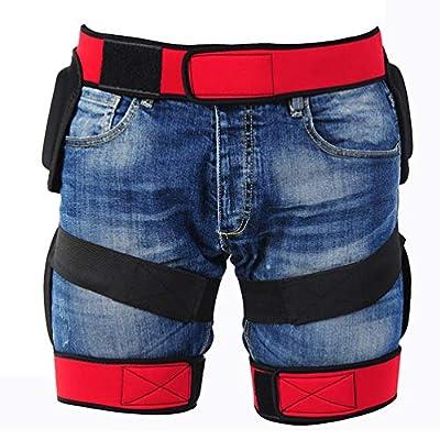 Keyobesa 3D Protection Hip Butt Paded Short Pants Protective Gear Guard Impact Pad Ski Ice Skating Snowboard Schwarz