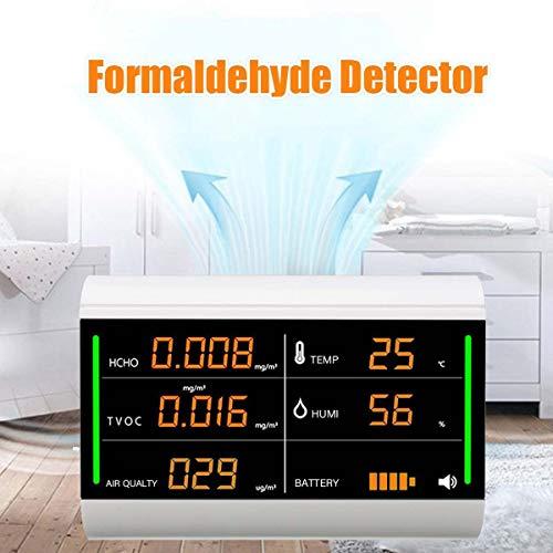 8°KL Luftqualität Messgerät Formaldehyd Test Tool Home Luftqualitätsprüfgerät Tester Digitaler Bildschirm USB TVOC HCHO Benzol/Staub/Temperatur/Luftfeuchtigkeit Meter #721821
