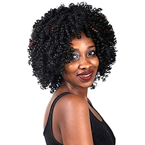 Sintetico Vogue Charme bellezza dei capelli, neri corti romantici Curling parrucche per concerti / feste a tema, / matrimoni