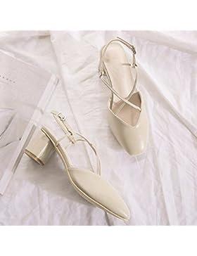 SDKIR-Nessuna perdita dita, Femmina sandali estivi irregolare con taglio trasversale con sandali, onorevoli sandali...
