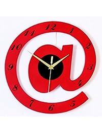 Clock Reloj De Pared Reloj De Madera Alfabeto Decoración De La Pared Personalidad De La Moda