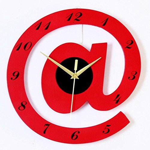 Clock Reloj De Pared Reloj De Madera Alfabeto Decoración De La Pared Personalidad De La Moda Creatividad Colgante Adornos Sala De Estar Oficinas,Red