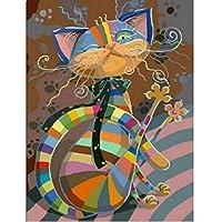 kit mosaico gato colorido piedras cuentas de cristal puzzle cristales multicolor para manualidades, regalos,