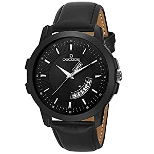 Decode Analogue Men's Watch (Black Dial Black Colored Strap)