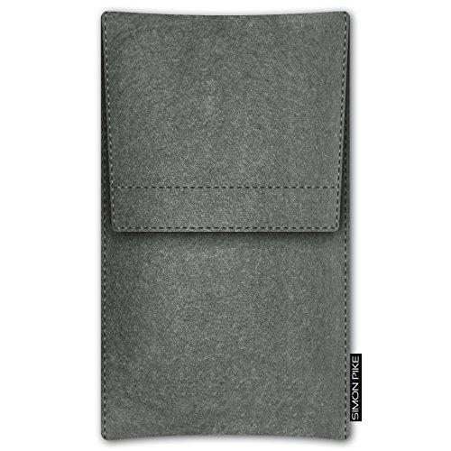 SIMON PIKE Apple iPhone 7 / 6 / 6S Filztasche Case Hülle 'NewYork' in elefantengrau 1, passgenau maßgefertigte Filz Schutzhülle aus echtem Natur Wollfilz, dünne Tasche im schlanken Slim Fit Design für elefantengrau Filz (Muster 16)