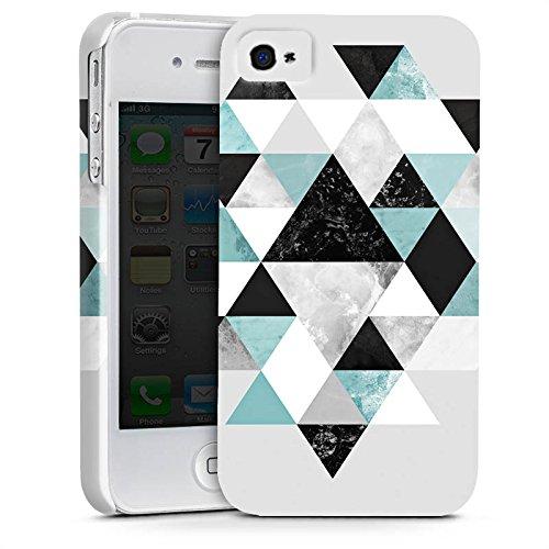 Apple iPhone X Silikon Hülle Case Schutzhülle Triangle Grafik Dreiecke Premium Case glänzend