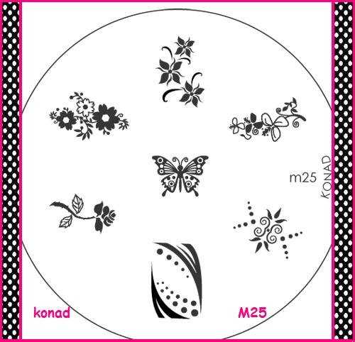 KONAD plaque M25 nail art special stamping tampon pour ongles gel uv manucure