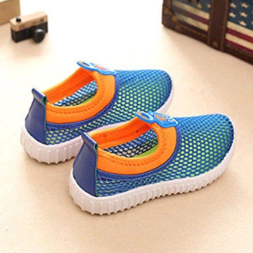 O&N Nylon-Schnürsenkel Laufschuhe Sportschuhe Netzschuhe Turnschuhe für Kind Blau