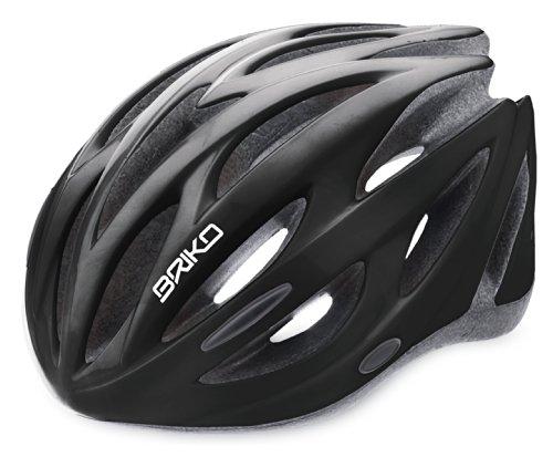 Briko Shire Unisex, Casco per bici, Nero, L