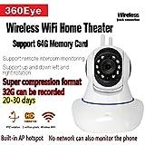 Telecamere IP Wifi WLAN, telecamera di sorveglianza Wifi per voce intercomunicante, telecamera di sicurezza senza fili WiFi di sicurezza per IOS e Android