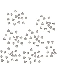 P Prettyia 100 Stücke Blumen Form Zwischenperlen Perlenkappen Spacer Endkappen für Accessoires Basteln