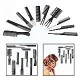 Gearmax® Salon Professional Kämme Hairdressing Stylists Barbers Kämme Haar kamm Stielkamm Friseur Kamm Set 10 Stück