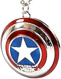 Marvel Capitán América escudo de estrella colgante–los Vengadores Super Hero Cosplay collar con caja de regalo