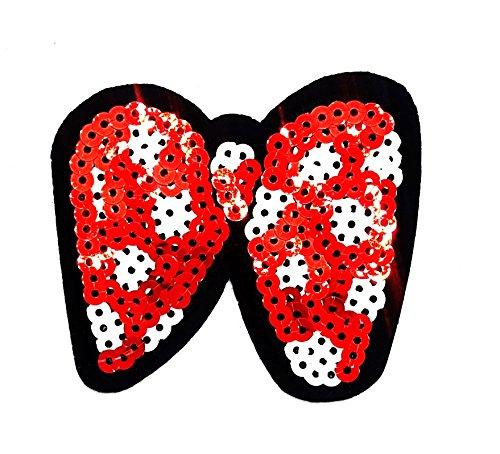 rabana Gold Rot Pink Ribbon Pailletten Haarband Bögen Glanz glänzend Cartoon Kids Kinder Cute Animal Patch für Heimwerker-Applikation Eisen auf Patch T Shirt Patch Sew Iron on gesticktes Badge Schild (Kostüme Pet Ribbon Pink)