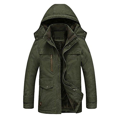 TOPQSC Herren Winterjacke Gefuettert Mantel Jacke Herren Warme Jacken Herren