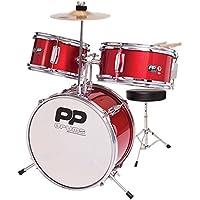 Performance Percussion pp101rd PP Drums Juego de impacto juguete para niños (3piezas), color rojo metálico