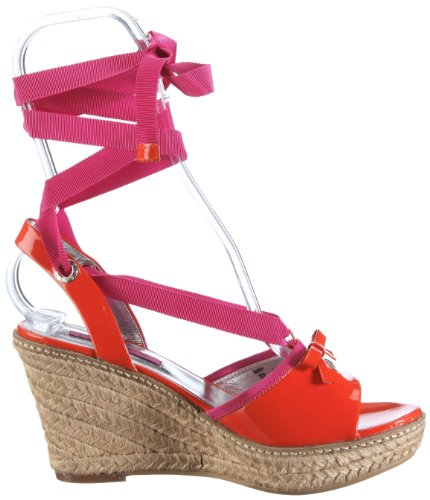 JETTE Colour Fever Wedge Sandal 63/21/14475, Sandales femme TR-B2-Orange-22