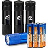 LED Torch 4 Pack Batteries Included Super Bright High Quality Small Lightweight