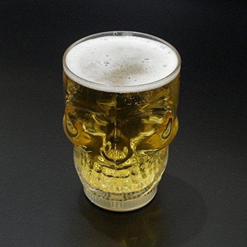 Aeemi Dekorationsartikel Halloween Flash Schädel Bier Becher Light Cup Bar 350Ml
