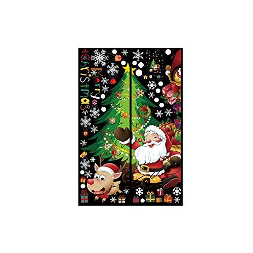 Aploa Wandsticker Wandaufkleber 2020 Frohe Weihnachten Haushaltszimmer Wandaufkleber Dekor Aufkleber Abnehmbare, Wandaufkleber Deko für Wohnzimmer Schlafzimmer Küche Flur (C)