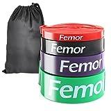 Femor Resistance Band Set Fitnessbänder Klimmzugband aus Naturlatex Widerstandsband Pull-Up Bänder...