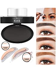 Igemy Naturel Poudre à sourcils Maquillage sourcils Palette de tampon Article élégant Shadow définition
