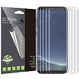 Protection écran Samsung Galaxy S8 [Case Friendly], LK [4 Pièces] [Couverture complète] PET TP Flex TPU avec Garantie de Remplacement à Durée de Vie