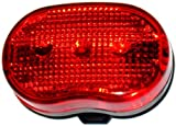 bikelight.eu LED Fahrrad Rücklicht Fahrradlicht, Fahrradbeleuchtung, LED Freizeitlicht rot, Outdoor-Licht, Rückleuchte, 5 LED´s, verschiedene Betriebsmodi, proPHONE