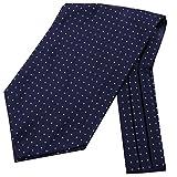 Küssen U Herren Blumenkleid Ascot Seidenschal Herren Paisley Jacquard Woven Anzug Zubehör (1)