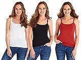 #7: Pietra Women's Cotton Camisole Set of 3