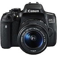 Canon EOS 750D + 18-55mm IS STM + JOBY STRAP SLR Camera Kit 24.2MP CMOS 6000 x 4000pixels Black - Digital Cameras (24.2 MP, 6000 x 4000 pixels, CMOS, Full HD, Touchscreen, Black)