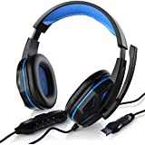 CSL - USB Gaming Headset inkl. Kabelfernbedienung   inkl. Mikrofon   Kabelfernbedienung (Media-Control + Mikrofon EIN/AUS)   für Gaming, Musik, Chat, Internet-Telefonie, Filme