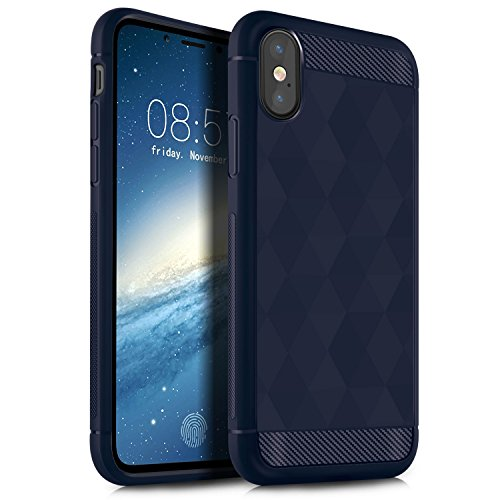iPhone X Hülle, KuGi Ultra thin Cover Case Kasten Case für Apple iPhone X Smartphone (Schwarz) Blau