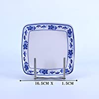 Daeou melamina azul placa de plástico placa plato plato plato de arroz intestinal autoservicio juego de