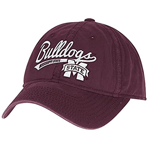 NCAA Mississippi State Bulldogs Women's Adjustable Slouch Cap, One Size, Maroon