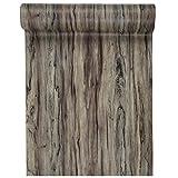 Tischläufer - 27 cm x 3 m natur - Holzstruktur Tischband Tischdeko - 5339
