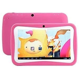 Kool(TM) Rosa BENEVE Tablet Educativo Per Bambini PC 7 pollici Android 4.4 KITKAT RK3026 Cortex A9 Dual Core 1.5GHz 4GB Doppia Fotocamera WIFI