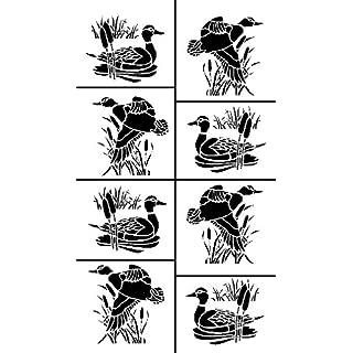 Armour Etch Stencil Rub N Etch Stencil, Ducks, 5-Inch by 8-Inch