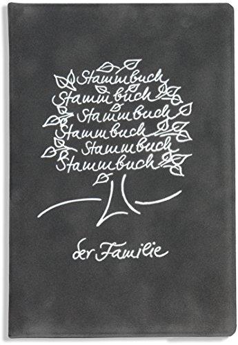 Stammbuch der Familie -Breris-, Familienstammbuch, dunkelgrau, Velours, Silberprägung, Ringmechanik, Stammbücher