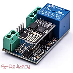 azdelivery ESP8266–01S ESP de 01con relé WiFi/WiFi módulo para arduino y Raspberry Pi con Gratis eBook.