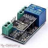 AZDelivery ⭐⭐⭐⭐⭐ ESP8266-01S ESP-01 WLAN WiFi Modul mit Relais Adapter für Arduino mit gratis eBook!