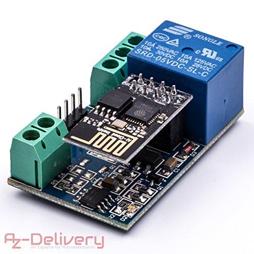 AZDelivery ⭐⭐⭐⭐⭐ ESP8266 ESP-01 Adaptateur pour Arduino et Raspberry Pi ESP-01 + Relais