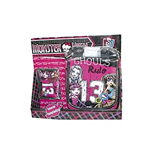 Monster High – Pack Bolso Vertical + Billetero con Velcro (Karactermania 23521)
