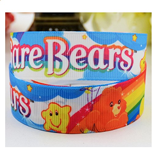 2-yards-care-bears-grosgrain-ribbon-23-mm