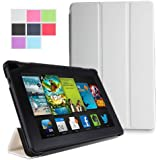 Poetic Slimline Case with Smart Cover Auto Sleep and Wake Feature for All New Kindle Fire HD 7 2nd Generation 2013 7 inch Tablet - White